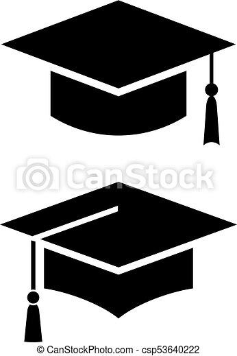 Academic graduation cap vector icons set. 066b515e2477