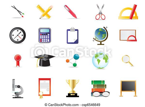 academy educational icons - csp6546649