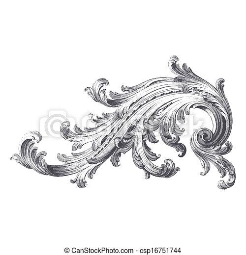 acanthe, rouleau - csp16751744