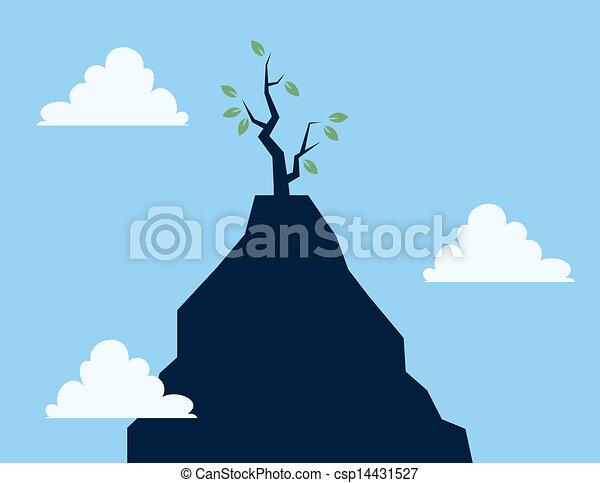 Árbol en el acantilado - csp14431527
