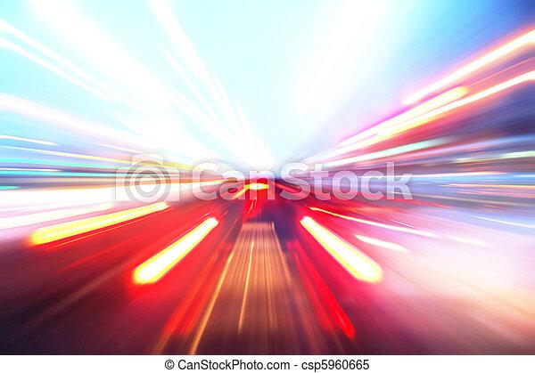 accélération, mouvement, résumé - csp5960665