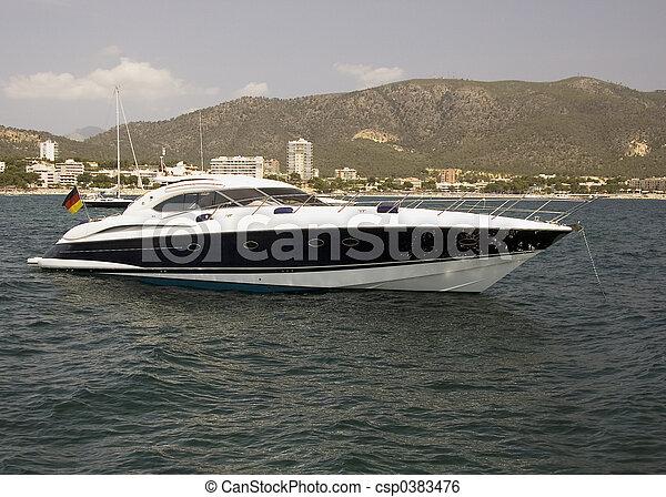 accélérez bateau - csp0383476