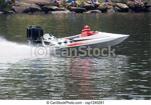 accélérez bateau - csp1240281