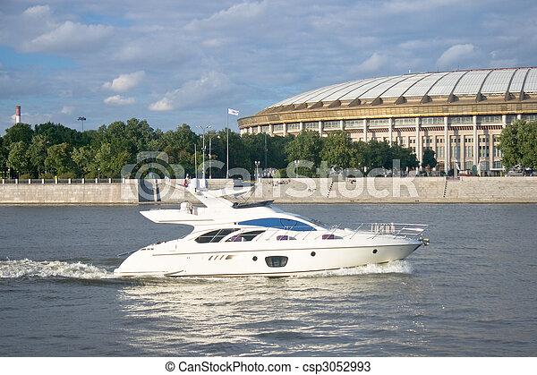 accélérez bateau - csp3052993