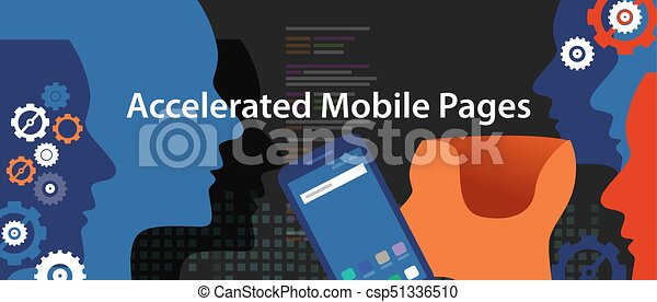 accelerated mobile pages fast in smart phone optimized speed programming coding fast lightning bolt thunder icon fast charging - csp51336510