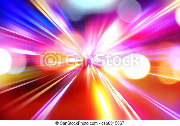 accelerazione, astratto, movimento, notte, velocità, strada - csp6315067