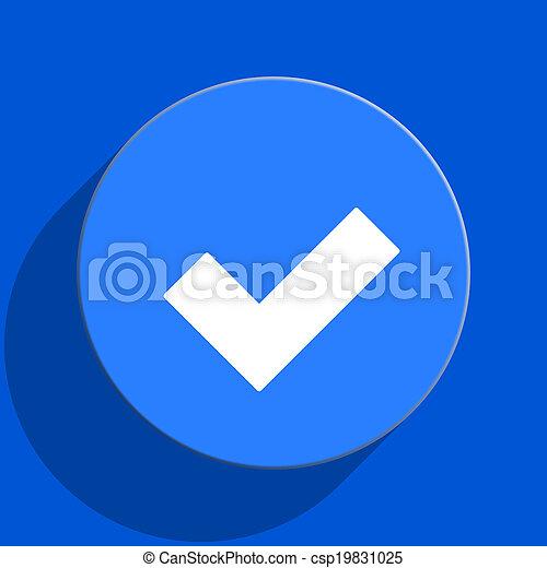 accept blue web flat icon - csp19831025