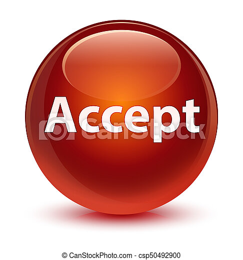Accept glassy brown round button - csp50492900