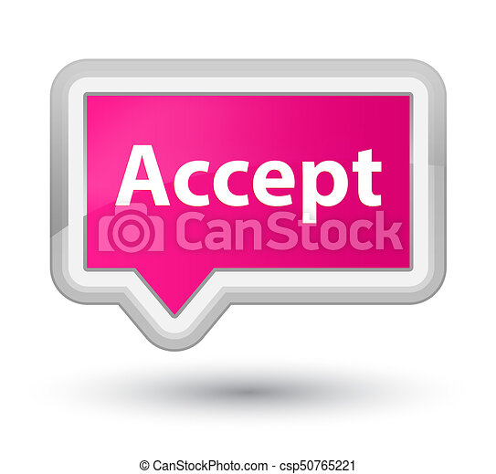 Accept prime pink banner button - csp50765221