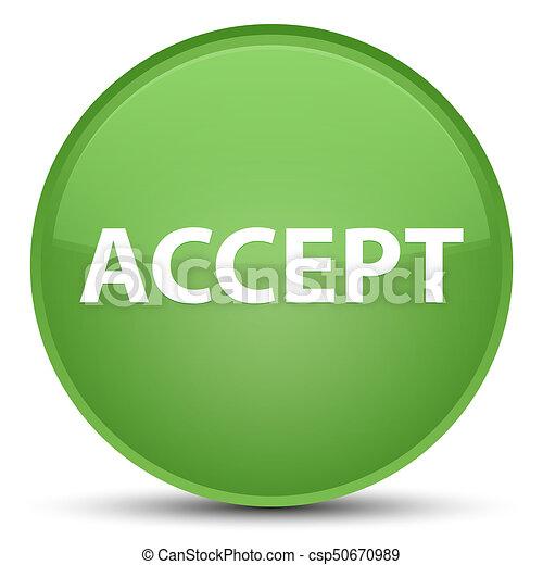 Accept special soft green round button - csp50670989