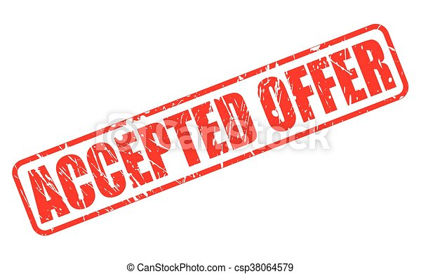 ACCEPTED OFFER RED STAMP TEXT - csp38064579