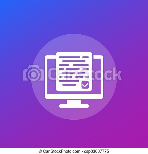 accepting new terms or conditions vector icon - csp83007775