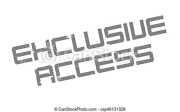 Un sello de acceso exclusivo - csp46131328