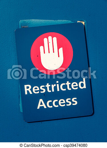 Acceso restringido seal restringido smbolo mano imgenes acceso restringido seal csp39474080 altavistaventures Gallery
