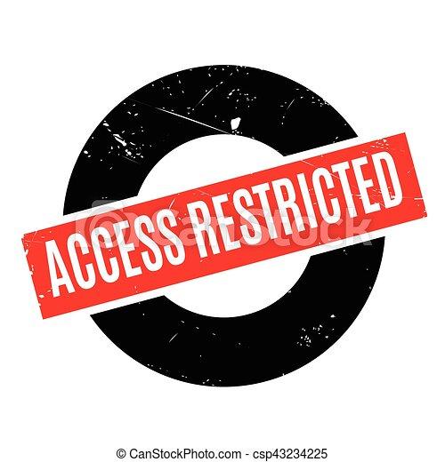Acceso restringido sello de goma caucho changed ilustracin acceso restringido sello de goma csp43234225 altavistaventures Gallery