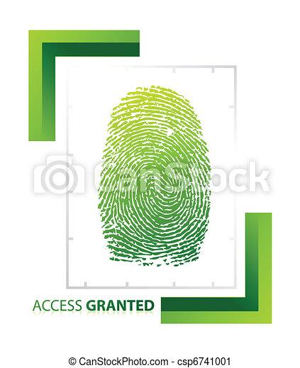 accesso, granted, illustrazione, segno - csp6741001