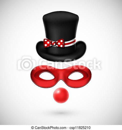 Accessories a clown - csp11825210
