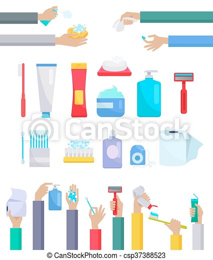 Accessories and Hygiene Items Design Flat - csp37388523