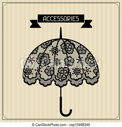 Accessories. Vintage lace background, floral ornament. - csp15498349
