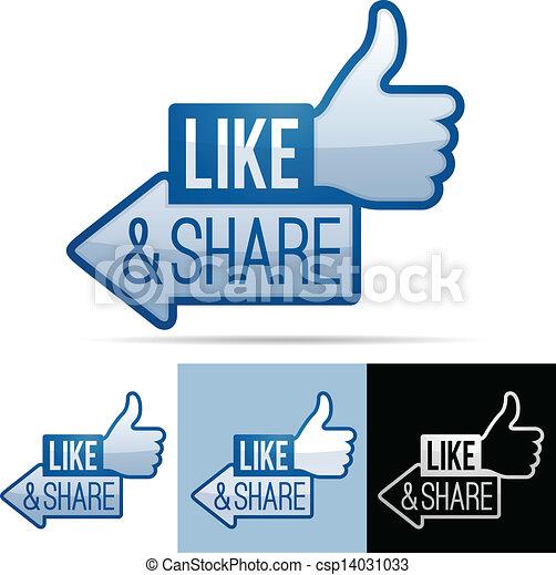 Y compartir pulgares - csp14031033