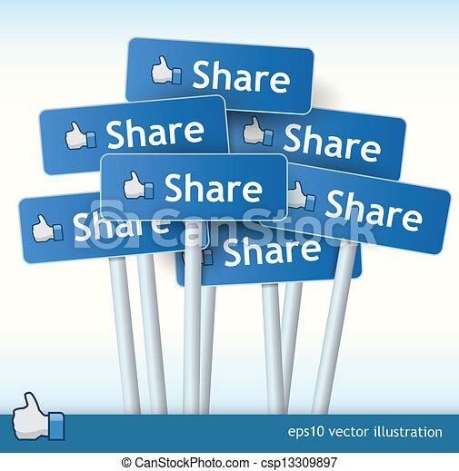 Coleccion de signos de compartir - csp13309897