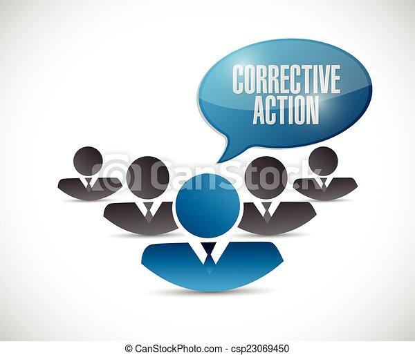 Acción correctiva ilustración de la gente - csp23069450