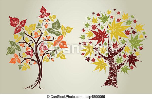 Árboles de hojas. Acción de Gracias - csp4800066