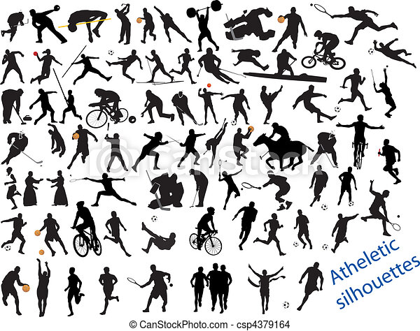 Acción llena de deportes - csp4379164