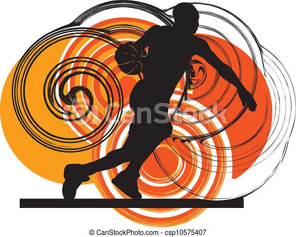 Jugador de baloncesto en acción - csp10575407
