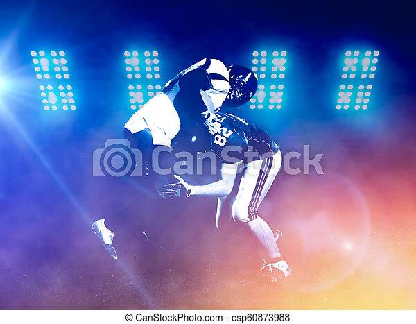Jugadores de fútbol americano en acción - csp60873988