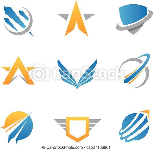Acción Logo y icono - csp27106901