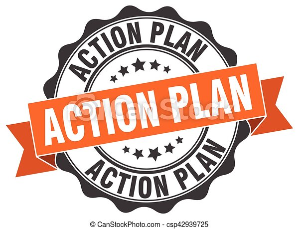 Plan de acción. Firma. Sellen - csp42939725