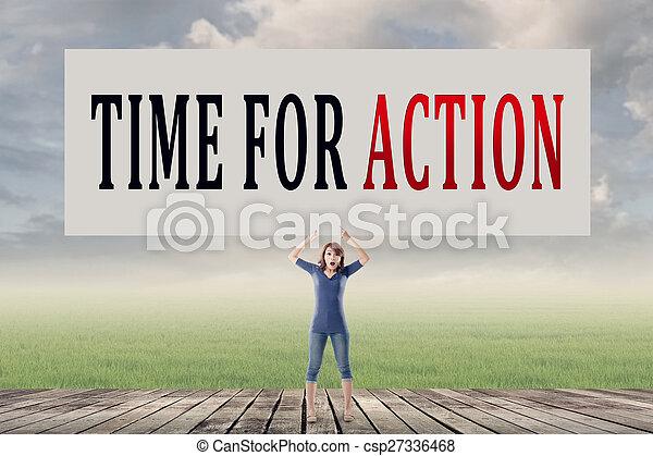 Hora de la acción - csp27336468