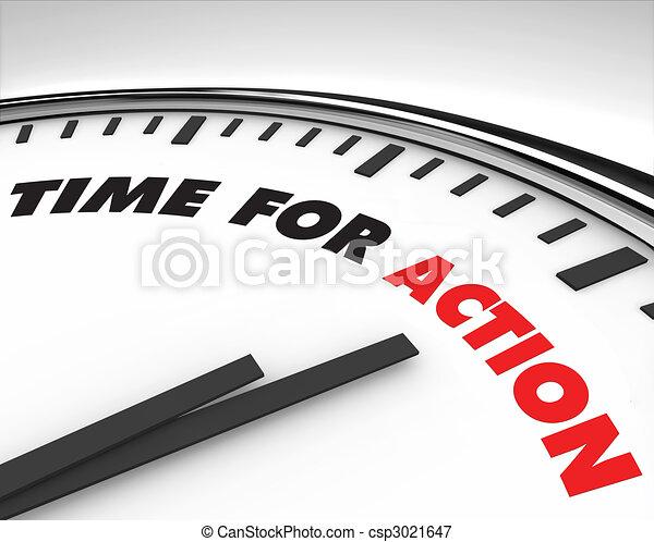 acción, tiempo, -, reloj - csp3021647