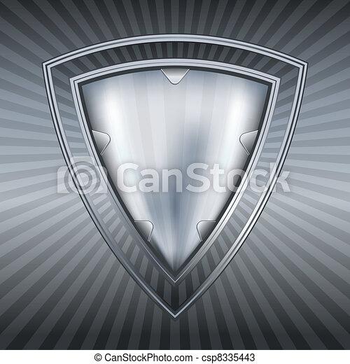acciaio, astratto, scudo - csp8335443