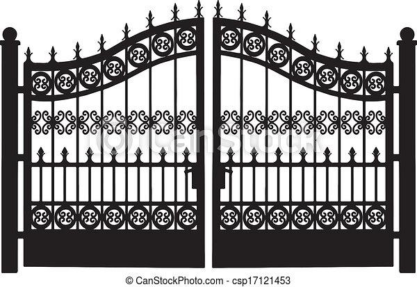 acciaio, cancello, openwork - csp17121453