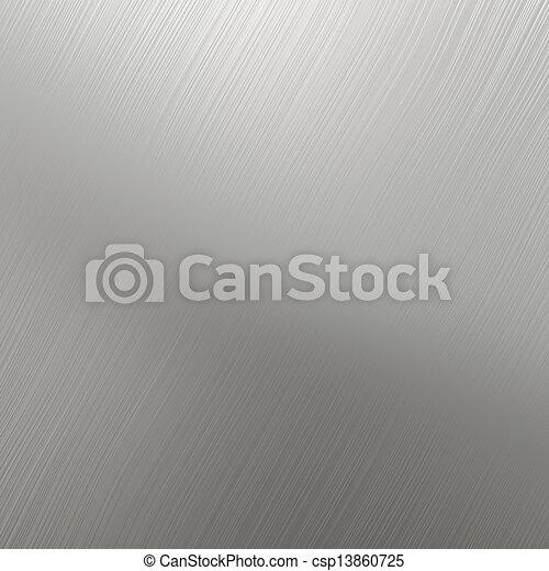 acciaio, inossidabile, argento, textured - csp13860725