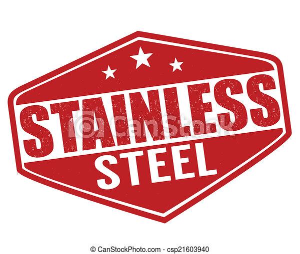 acciaio, inossidabile, francobollo - csp21603940