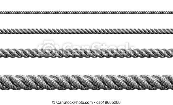 acciaio, metallo, set, gherlino, isolato - csp19685288