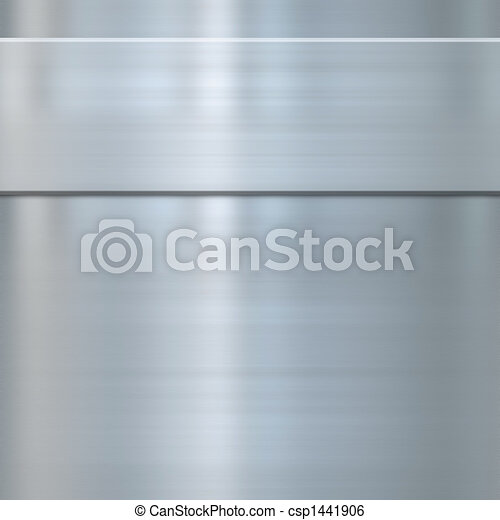 acciaio, multa, metallo spazzolato - csp1441906