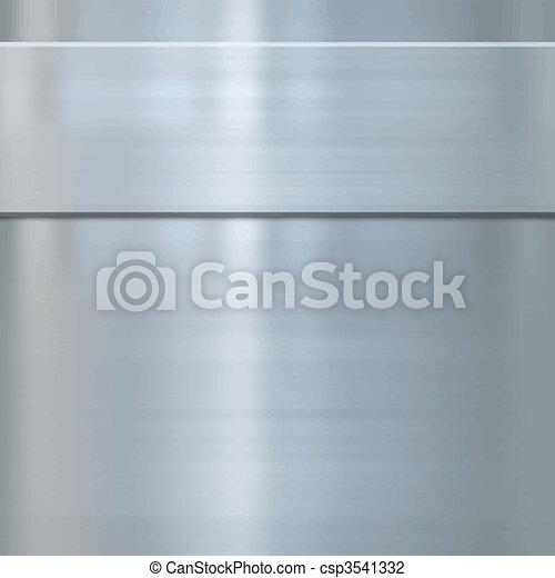 acciaio, multa, metallo spazzolato - csp3541332