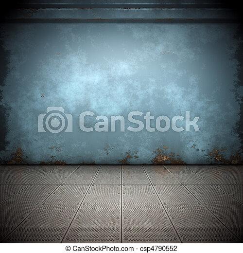 acciaio, pavimento - csp4790552