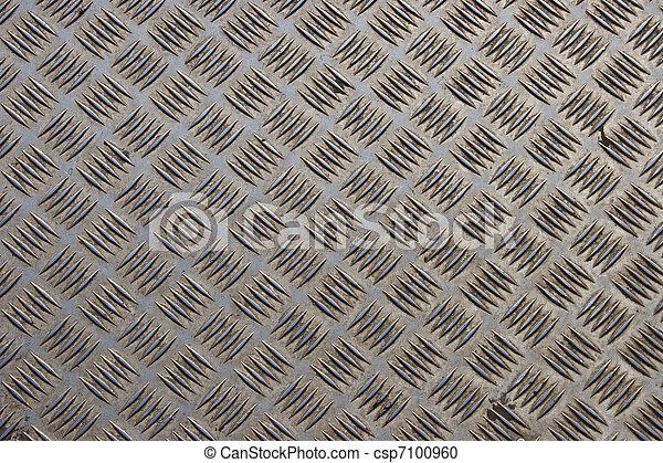 acciaio, piastra, diamante, fondo - csp7100960