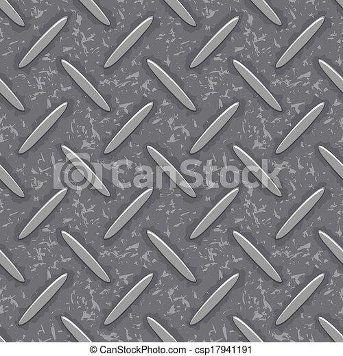 acciaio, piastra, diamante, grunge, seamless, struttura - csp17941191