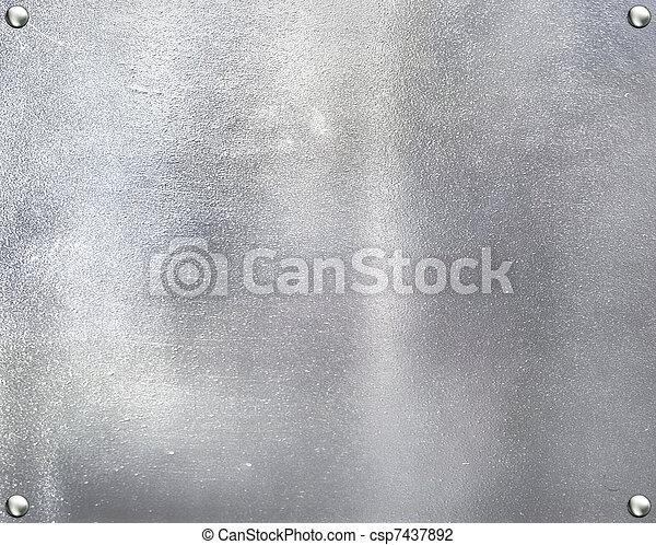 acciaio, piastra, metallo, fondo. - csp7437892