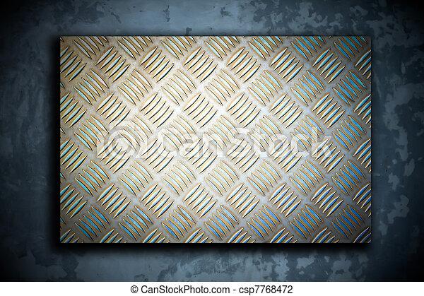 acciaio, piastra, metallo, fondo - csp7768472