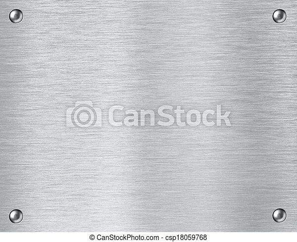 acciaio, piastra, metallo, fondo, textured - csp18059768
