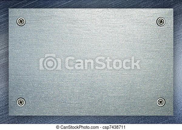 acciaio, piastra, metallo, fondo. - csp7438711