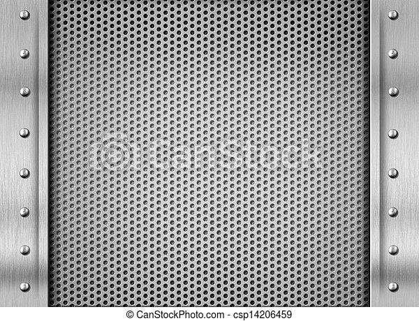 acciaio, piastra, metallo, struttura, fondo - csp14206459