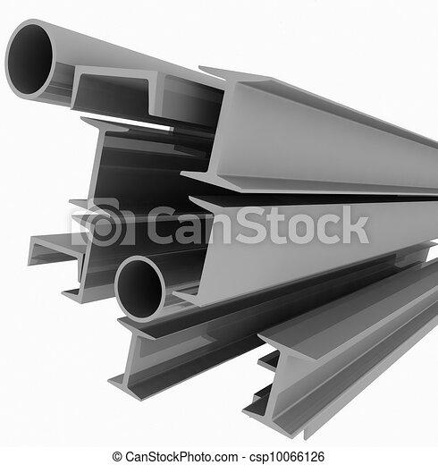 acciaio, -, profili, alto, fondo, tecnologia - csp10066126